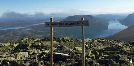 Utsikt over Helin og Syndin fra Grindafjell