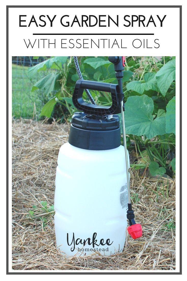 Easy Garden Spray With Essential Oils