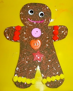 Marble paint gingerbread man from Mom to 2 Posh Lil Divas