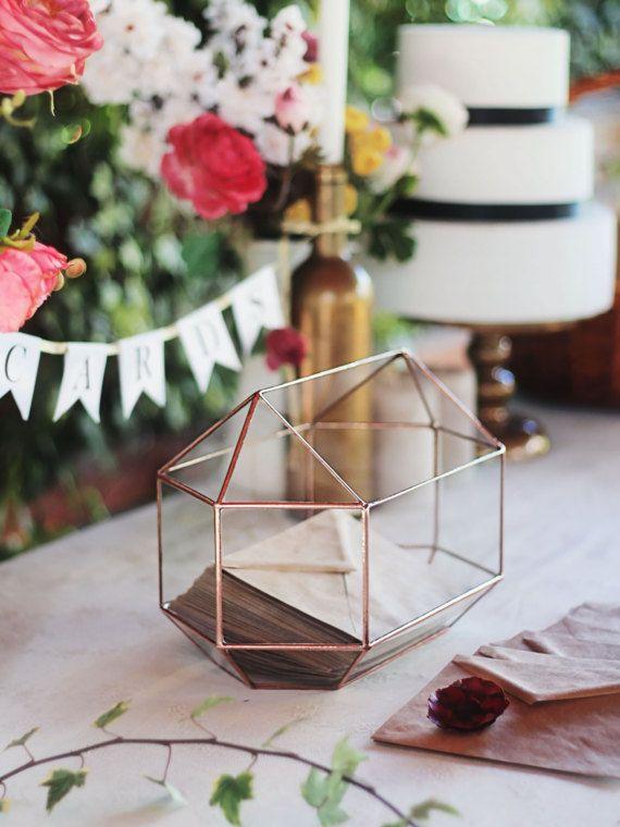 large geometric glass wedding card box wedding gift table decor rh pinterest com