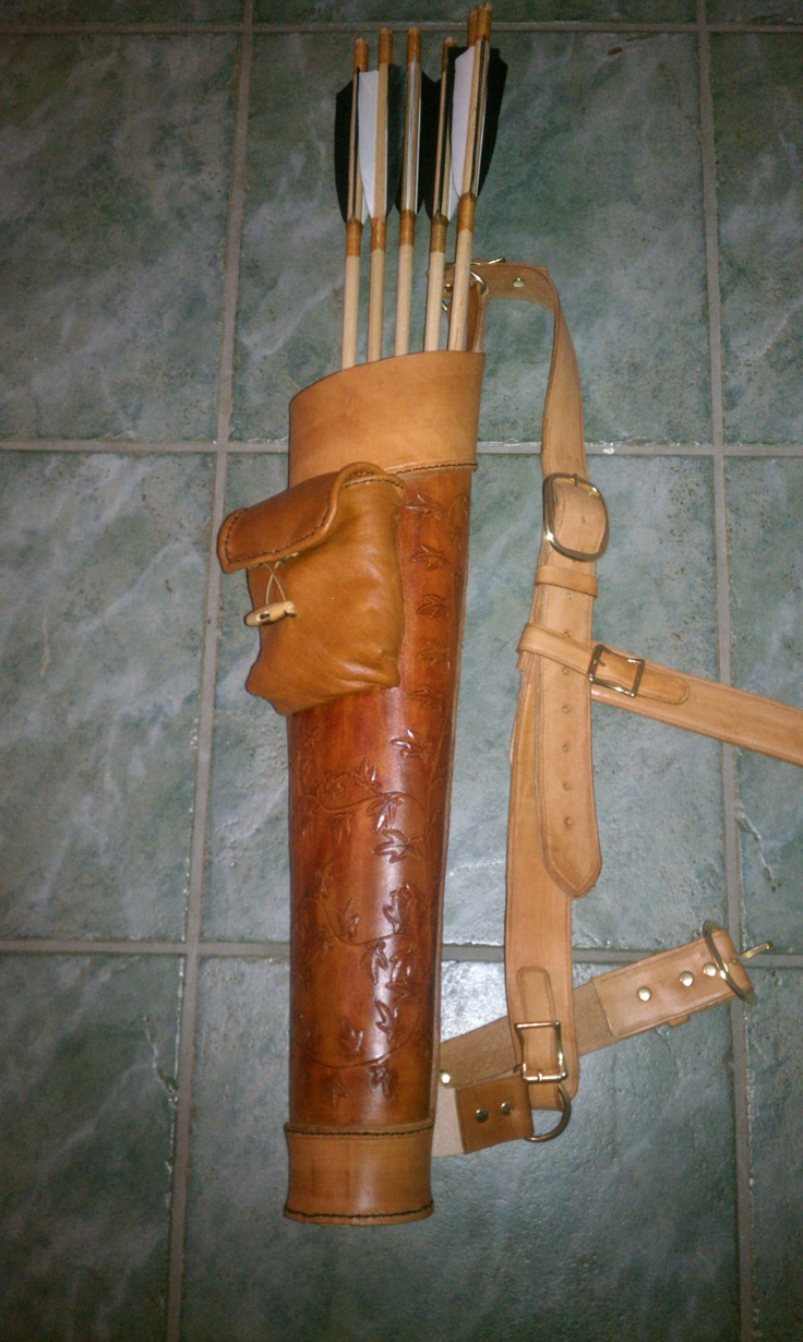 Leather Archery Quiver.