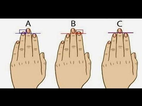 Confirma Tu Tipo De Personalidad Por La Longitud De Tus Dedos Con Este T...