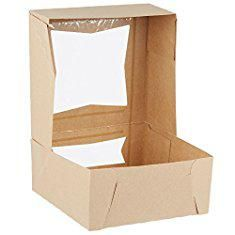 """Donut Boxes For Sale. 9"""" Length x 9"""" Width x 4"""" Height Kraft Paperboard Auto-Popup Window Pie / Bakery Box by MT Products (Pack of 15).  #donut #boxes #for #sale #donutboxes #boxesfor #forsale"""