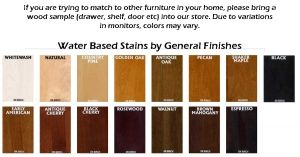 Premium Water Based Wood Stain Colors