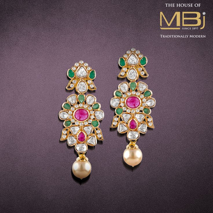 Dazzle your charm everywhere with the jewellery from #TheHouseofMBj. #MBjIndia #MBj #Luxury #Earrings #Diamond #Polki #Accessories #Jewellery