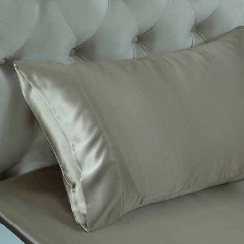 Best Silk Pillowcase For Skin Beauteous 9 Best Taupe Silk Bedding Set Images On Pinterest  Silk Bedding Inspiration