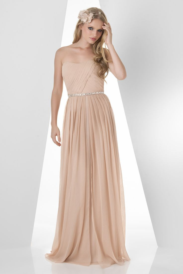 14 best champagne bridesmaid dress images on pinterest in crinkle chiffon fabric with a rhinestone beaded waistband the bari jay 880 bridesmaid dress has an ethereal elegant look with sparkling accents that ombrellifo Choice Image