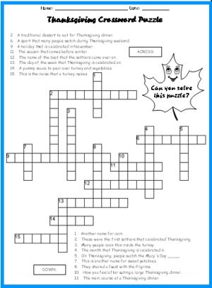 Trust image for thanksgiving crossword puzzle printable
