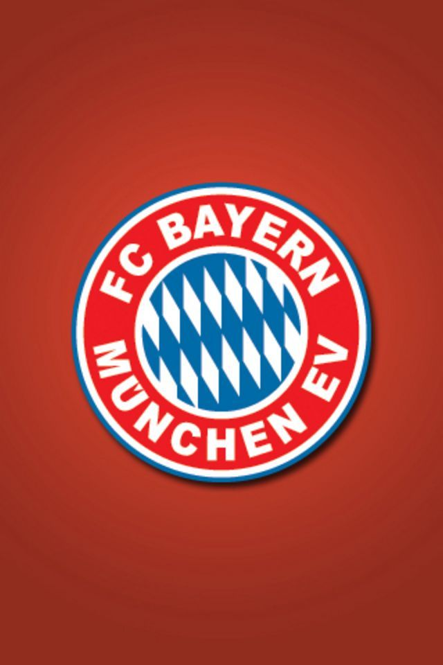 FC Bayern Munchen Logo Red Background for Wallpapers iPhone 4 and 4s