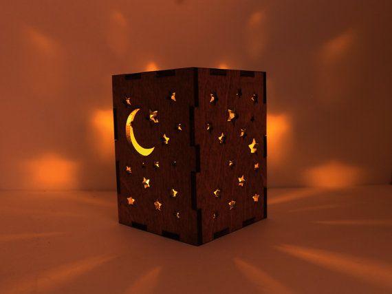 A wooden shadow box is a wonderful nighttime addition!