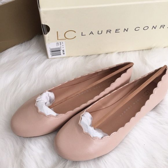 LC Lauren Conrad Blush Pink Scallop Flats LC Lauren Conrad Blush Pink Scallop Flats. They look exactly like the Chloe flats ($475). Brand new with tags and box. Never worn, perfect condition! LC Lauren Conrad Shoes Flats & Loafers
