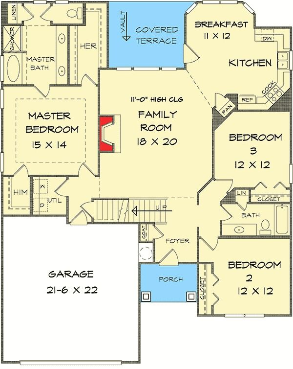 891 best images about house plans small er on Ranch style duplex plans