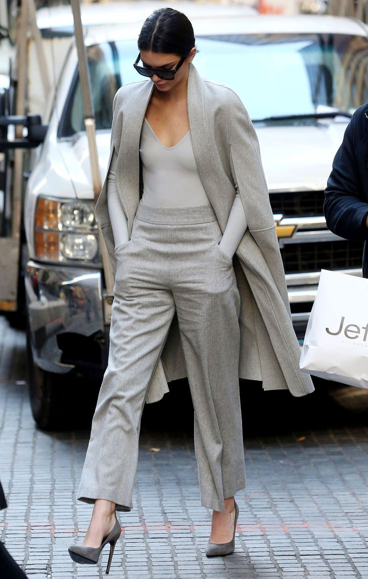 Kendall Jenner Looked Stunning In An All Gray Ensemble