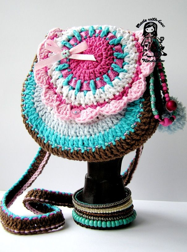 Crochet little girl purse - inspiration Crochet Pinterest