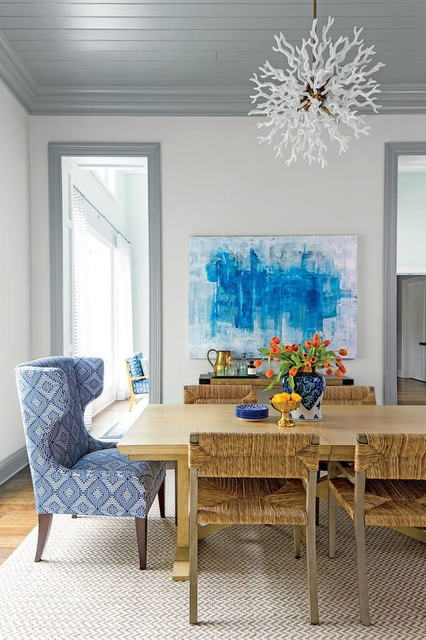 Floating Rugs - The Biggest Decorating Don'ts - Southernliving. Proper area rugs need to ground a room and should fill the whole floor leaving a one-foot border around all four walls. All the room's furniture should fit on an area rug. Sisal and sea grass are great area rugs and look even better when layered with colorful or threadbare rugs on top.