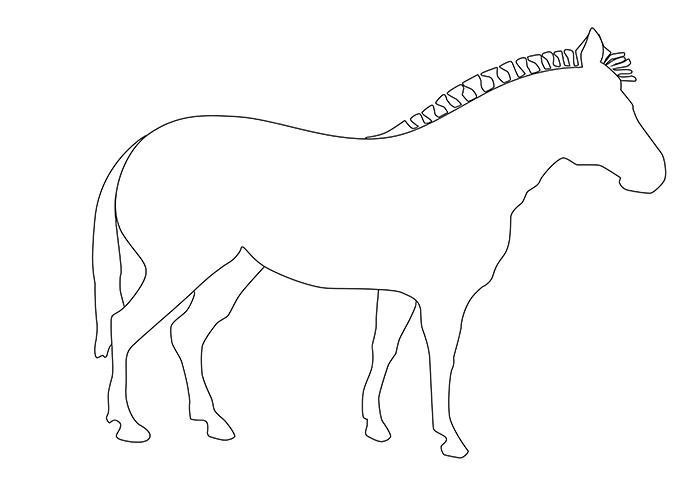 Zebra Outline Printable Animal Outline Zebra Drawing Zebras