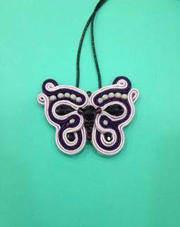 Soutache butterfly