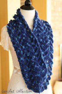 Free Crochet Infinity Scarf Pattern | Crochet Scarves Pattern ~ Crochet Collection