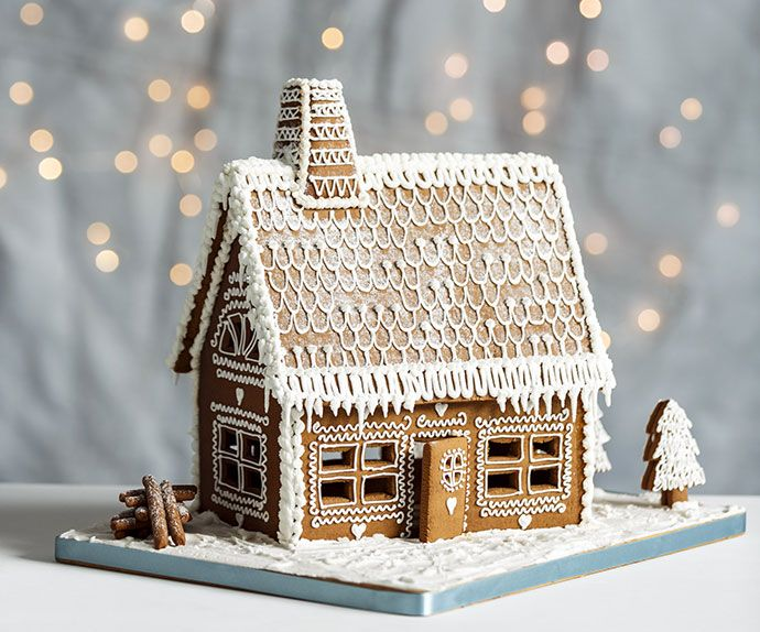 Gingerbread house template.