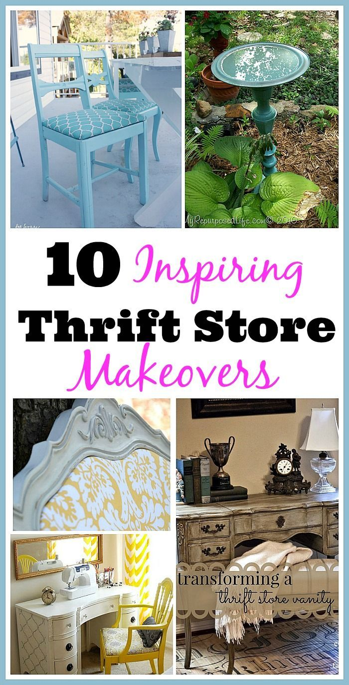 10 inspiring thrift store makeovers diy pinterest thrifting rh pinterest com