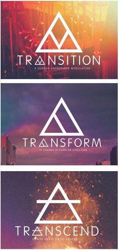 Transition Transform Transcend Glyphs