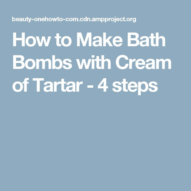 How to Make Bath Bombs with Cream of Tartar - 4 steps