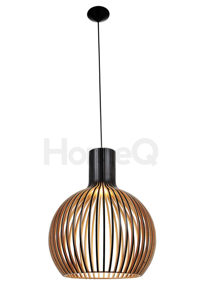 Replica Wood Octo 4240 pendant lamp-Premium version - Black laminated birch