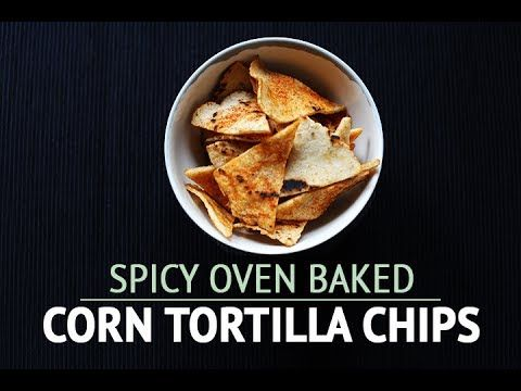 Spicy oven baked corn tortilla chips | gluten free  #food #cooking #recipe #video #chips #tortilla #homemade #corn