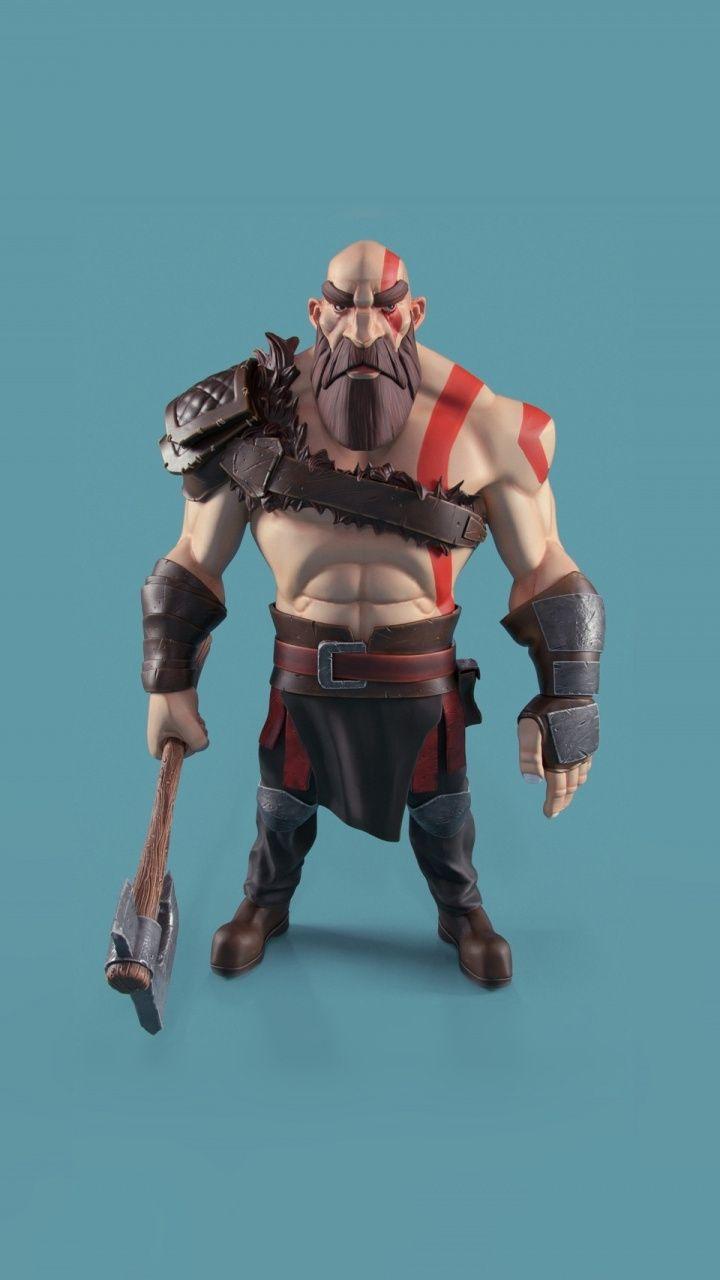 Kratos God Of War 3d Art 720x1280 Wallpaper Fantasy
