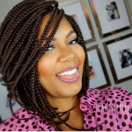 Cool short box braids hairstyles for black women