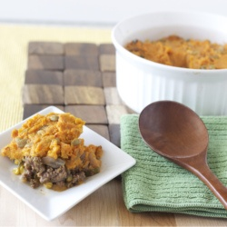 Lightened-up shepherds pie with roasted sweet potatoes and hatch ...