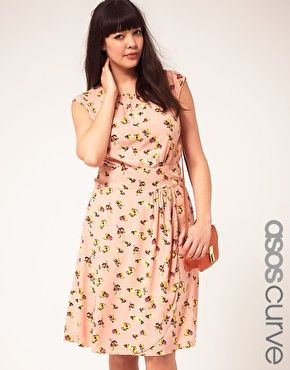 Enlarge ASOS CURVE Exclusive Dress In Pretty Floral