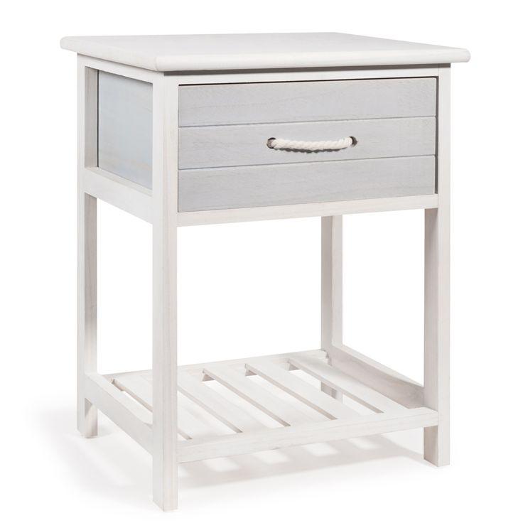 Chevet en bois blanc L 30 cm OLERON