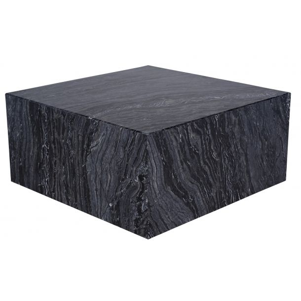Matisse Coffee Table In Black Stone Top Coffee Table Square