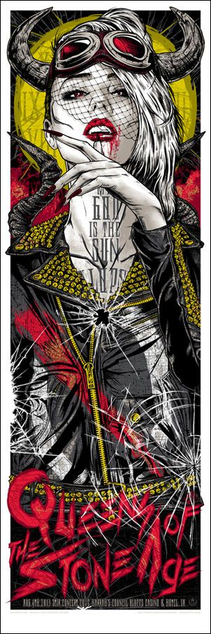 Silkscreen rhys cooper queens of the stone age