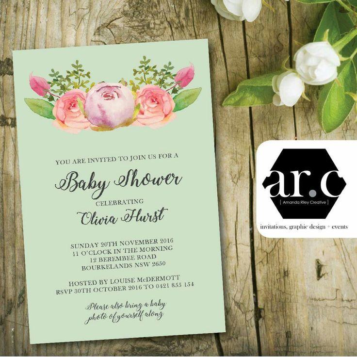 creative bridal shower invitation ideas%0A Baby Shower Invitation www amandariley com au