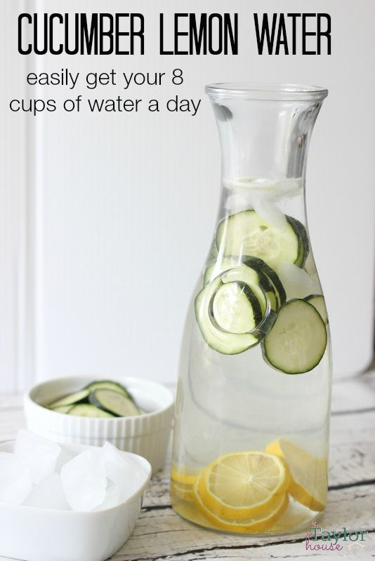 "Getting your 8 cups a day is easy with this tasty Cucumber Lemon Water ""recipe!"" I'm positive you'll love it as much as I do!"