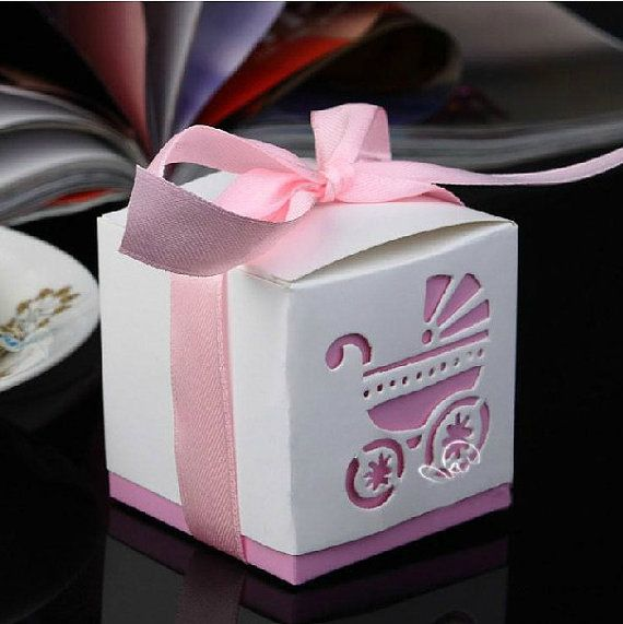 48 Laser Cut Baby Carraige Bomboniere Wedding Favors Christening Baby Boy Girl Shower Party Gift Box Pink/Blue on Etsy, $22.00
