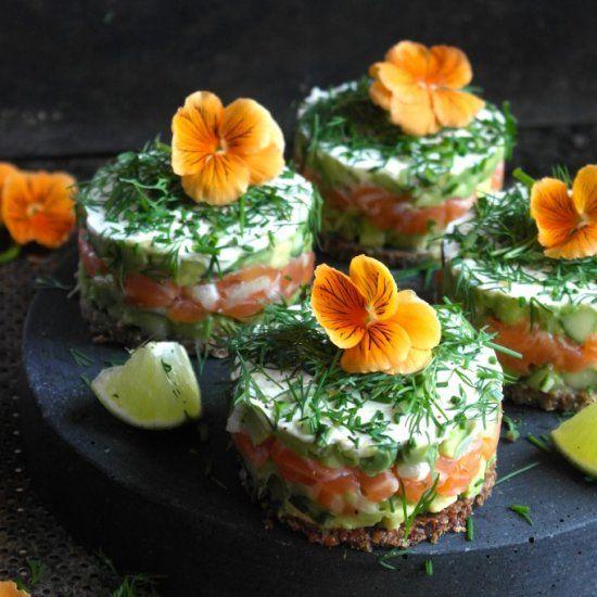 Easy Salmon and Avocado Starter
