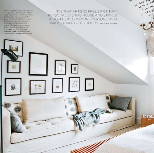 LOVE this sofa and the beautiful white clean room where it sits x