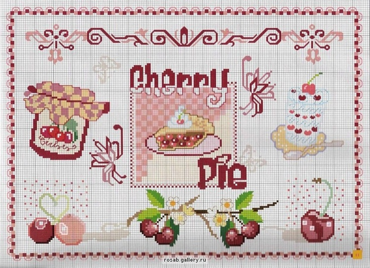 405 Best Images About Cross Stitch Food And Drink On