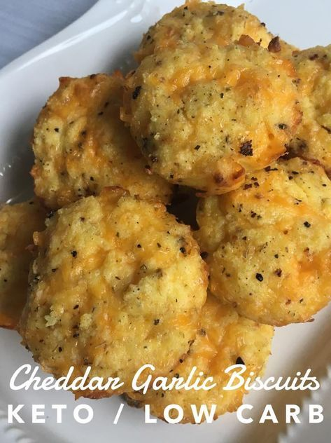 Cheddar Garlic Biscuits (keto / low carb)