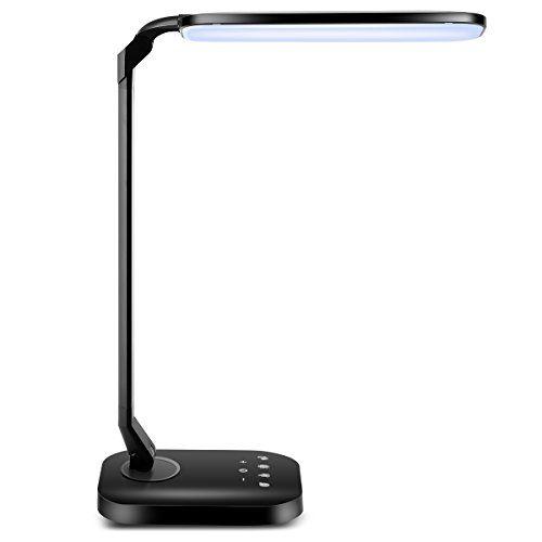 tomcare led desk lamp with usb charging port 15w dimmable desk lamp rh pinterest com