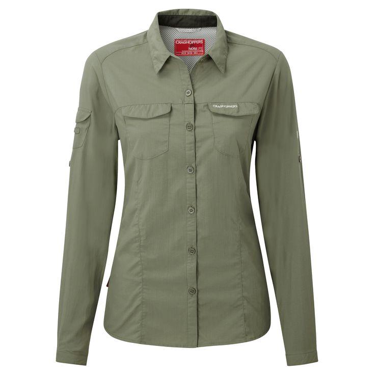 Doorout Angebote Craghoppers Nosilife Adventure Langarm Bluse olive Damen Gr. 38: Category: Outdoorbekleidung > Damen >…%#Quickberater%