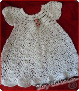 Платье для маленькой девочки крючком