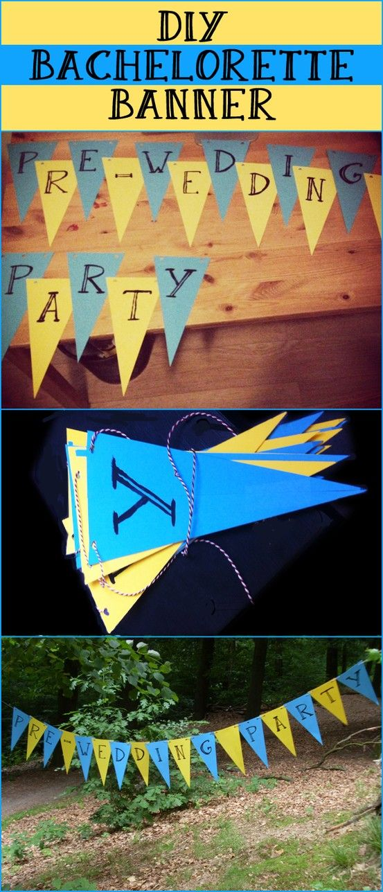 DIY bachelorette banner. Pre-wedding party decoration.