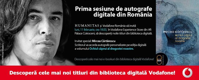 Editura Humanitas si Vodafone organizeaza prima sesiune de autografe digitale din Romania