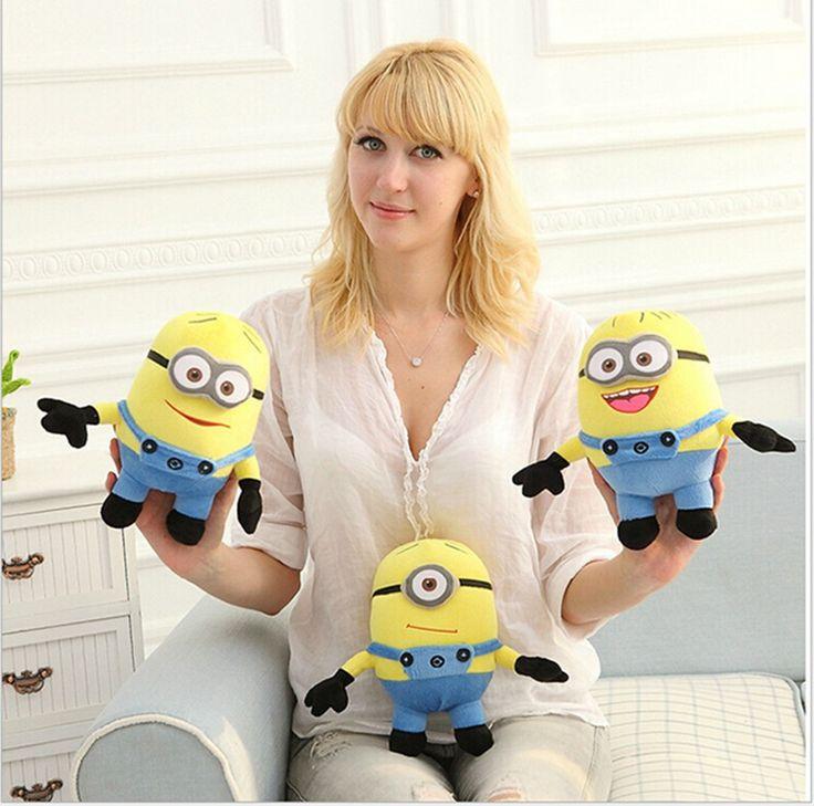 3pcs/lot Cute Despicable me plush minion pelucia toys doll Unicorn Minions Toy 3D eye bonecos minions Gift for children