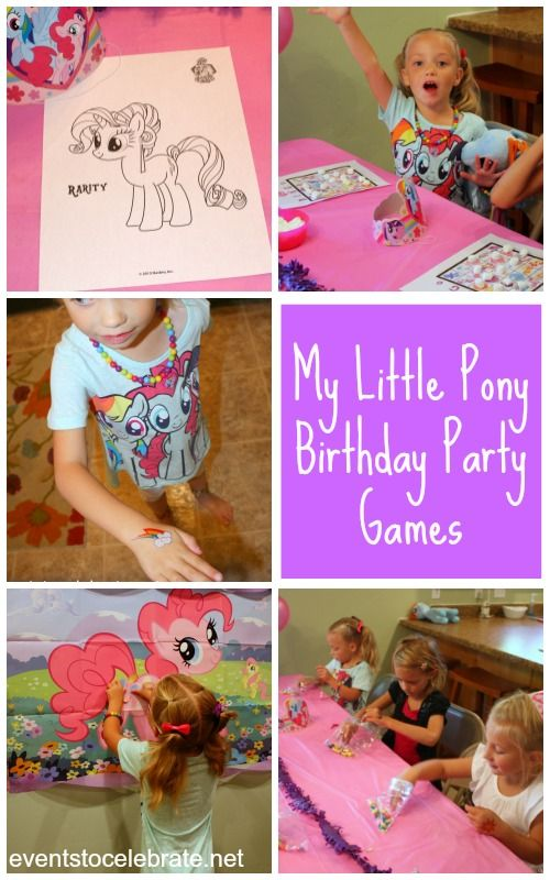 My Little Pony Birthday Party Games & Free Printables- Eventstocelebrate.net