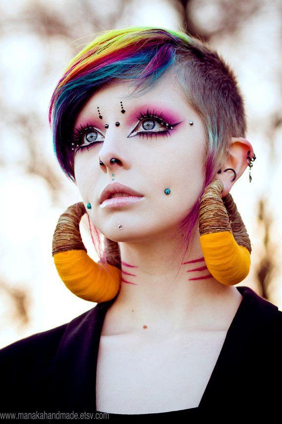 Elige tu color - Manakees de cáñamo orgánico para oídos estiradas - Eco ética pendientes - OOAK